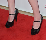 Pauley Perrette topped off her gothic edgy look with these shiny pumps.