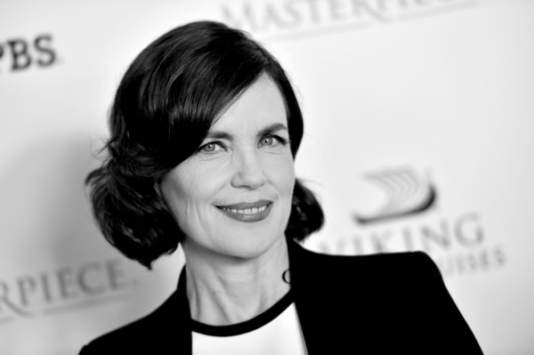 More Pics of Elizabeth McGovern Short Curls (1 of 20) - Elizabeth McGovern Lookbook - StyleBistro [downton abbey,image,hair,smile,hairstyle,chin,black-and-white,white-collar worker,businessperson,photography,gesture,monochrome photography,actors,elizabeth mcgovern,the beverly hitlon hotel,california,beverly hills,cast photo call,cast photo call,summer tca tour]