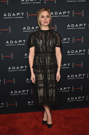 Cara Buono was classic and cute in a little black lace dress at the Adapt Leadership Awards.