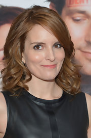 Tina Fey opted for bouncy curls for her red carpet look for the 'Admission' premiere in NYC.
