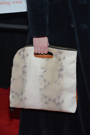 Billie Wildrick toted a cool snakeskin bag to the 'Admission' premiere in NYC.