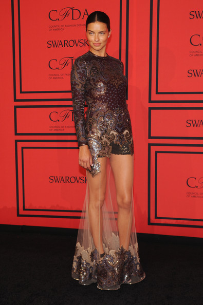Adriana Lima Beaded Dress
