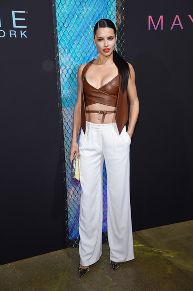 Adriana Lima Wide Leg Pants