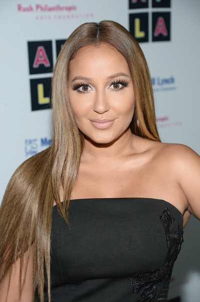 Adrienne Bailon Long Straight Cut [rush philanthropic arts foundations inaugural art for life los angeles,rush philanthropic arts foundations inaugural art for life los angeles,hair,face,blond,hairstyle,long hair,eyebrow,beauty,shoulder,brown hair,chin,russell simmons,adrienne bailon,private residence,los angeles,california]