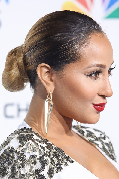 Adrienne Bailon Twisted Bun