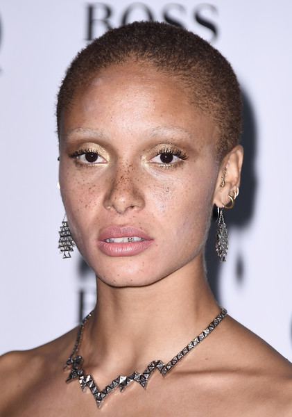 Adwoa Aboah Sterling Collar Necklace [hair,face,eyebrow,hairstyle,lip,forehead,chin,skin,beauty,head,adwoa aboah,gq men of the year awards,england,london,tate modern,red carpet arrivals]