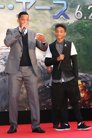 Was Jaden Smith trying to start a shorts-over-pants trend when he attended the 'After Earth' premiere in Japan?