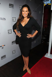 Tia Carrere looked sexy yet classy in this figure-hugging LBD at the ASAS Hoops Heroes Salute after-party.