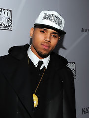 Chris Brown gave a shout out to the Raiders as he wore the team's baseball cap during a night out.