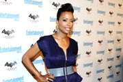 Aisha Tyler Has Style Down to a T in Gray T-Bar Pumps