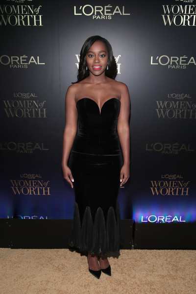 Aja Naomi King Strapless Dress
