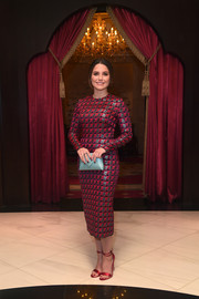 Sophia Bush looked perfectly refined in a patterned red midi dress at the 2017 Ajyal Youth Film Festival.