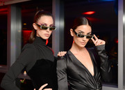 Lily Aldridge attended the Alain Mikli x Alexandre Vauthier launch wearing the 'Edwidge' jeweled sunglasses from the collection.