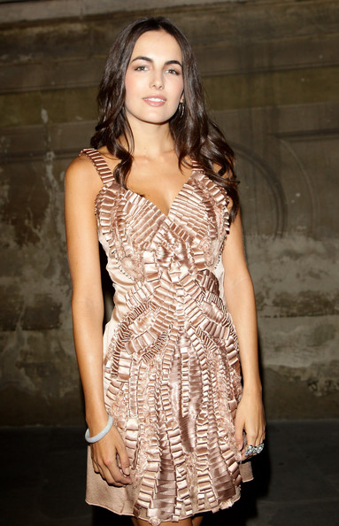 More Pics of Camilla Belle Nude Lipstick (1 of 12) - Makeup Lookbook - StyleBistro [fashion model,clothing,dress,cocktail dress,fashion,shoulder,lady,neck,day dress,long hair,alberta ferretti dinner arrivals,pitti immagine uomo 79,camilla belle attends the alberta ferretti,palazzo vecchio during the pitti immagine uomo,italy,florence]