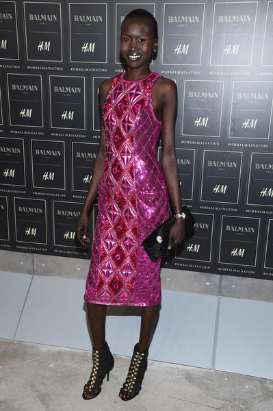 Alek Wek Satin Clutch