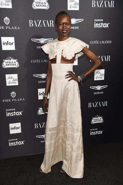 Alek Wek Cutout Dress