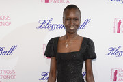 Alek Wek Little Black Dress