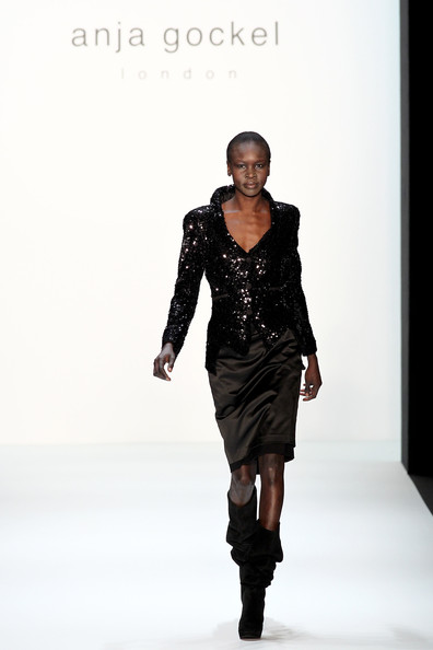 Alek Wek Sequined Jacket