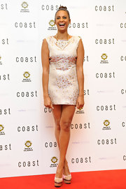 Alesha Dixon paired dangerous-looking spiked platform pumps with her mini dress during the launch of Coast's flagship store.