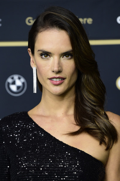 Alessandra Ambrosio Diamond Chandelier Earrings [hair,face,eyebrow,hairstyle,lip,beauty,chin,long hair,brown hair,fashion model,alessandra ambrosio,dyson,place,zurich,switzerland,dyson premiere - 13th zurich film festival,premiere,zurich film festival 2017]