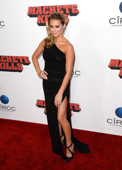 Alexa Vega One Shoulder Dress