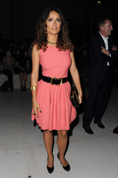 Opt for Fit-and-Flare Silhouettes Like Salma Hayek