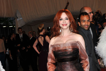 Christina Hendricks Wears Carolina Herrera to the 2011 Met Gala