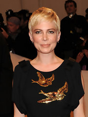 Michelle Williams lit up the red carpet with metallic bronze shadow at the 2011 Met Gala.