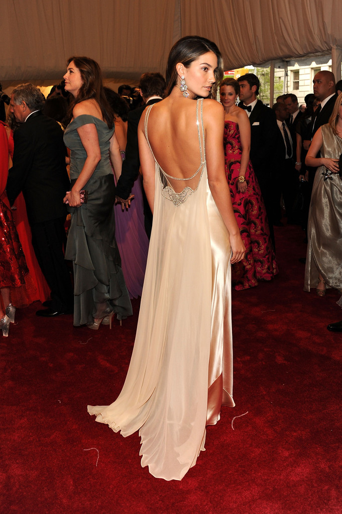 "Model Lily Aldridge attends the ""Alexander McQueen: Savage Beauty"" Costume Institute Gala at The Metropolitan Museum of Art on May 2, 2011 in New York City."