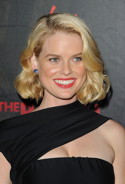 Alice Eve Red Lipstick [the raven,hair,face,blond,shoulder,hairstyle,chin,beauty,lip,eyebrow,cocktail dress,arrivals,alice eve,los angeles,california,special screening of relativity media,screening]