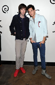 The guys of Cobra Starship showed off their awesome shoe style.