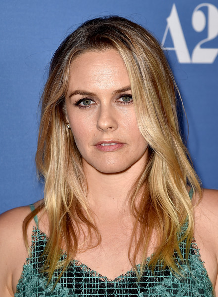 Alicia Silverstone Long Wavy Cut [hair,face,hairstyle,blond,eyebrow,long hair,layered hair,chin,brown hair,beauty,red carpet,alicia silverstone,room,west hollywood,california,pacific design center,a24,premiere,premiere]