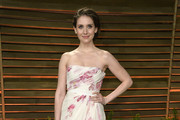Alison Brie Strapless Dress