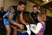 Sonny Bill Williams proudly displayed his intricate sleeve tattoo during an All Blacks Captain's run.