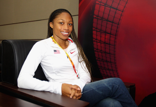 Allyson Felix Long Cornrows