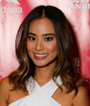 Jamie Chung styled her hair with a center part and wavy ends for the LA Film Fest premiere of 'It's Already Tomorrow in Hong Kong.'