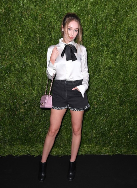 Alycia Debnam-Carey Quilted Leather Bag