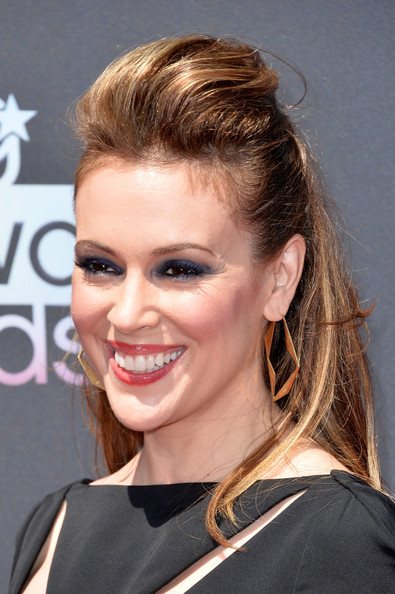 Alyssa Milano Half Up Half Down