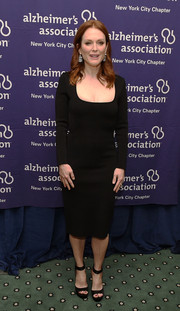 Julianne Moore opted for a basic square-neck LBD when she attended the Forget-Me-Not Gala.