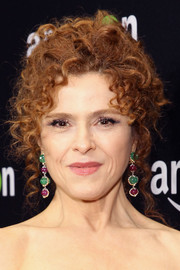 Bernadette Peters wore her signature curls in an updo during Amazon's Golden Globes celebration.