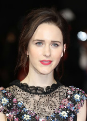 Rachel Brosnahan sported a bedhead-inspired updo at the world premiere of 'The Romanoffs.'