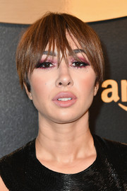Jackie Cruz rocked an edgy bowl cut at the Amazon Studios Golden Globes celebration.