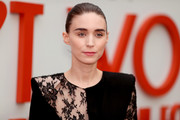 Rooney Mara wore her hair in a brushed-back bun at the premiere of 'Don't Worry, He Won't Get Far on Foot.'