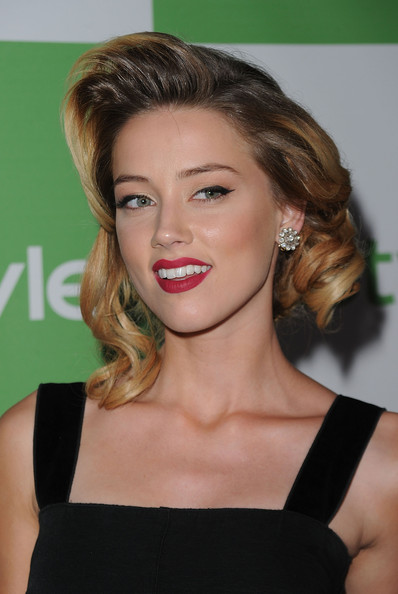 Amber Heard Medium Curls