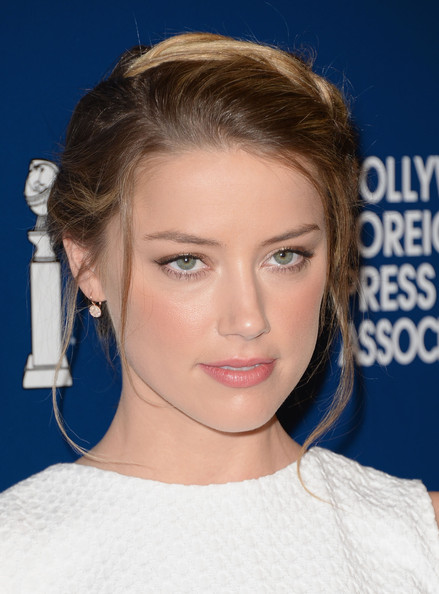 Amber Heard Braided Bun