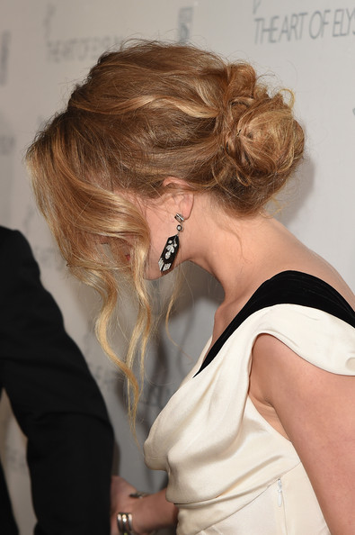 Amber Heard Loose Bun