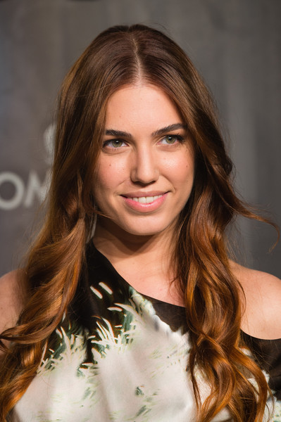 Amber Le Bon Long Wavy Cut [lost in space,omega speedmaster,hair,face,hairstyle,brown hair,eyebrow,blond,long hair,hair coloring,layered hair,beauty,amber le bon,mission,tate modern,united kingdom,london,nasa,party,event]