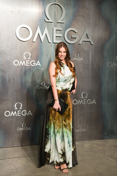 Amber Le Bon Jumpsuit [lost in space,omega speedmaster,fashion,lady,beauty,fashion design,dress,formal wear,fashion model,font,long hair,photography,amber le bon,mission,tate modern,united kingdom,london,nasa,party,event]