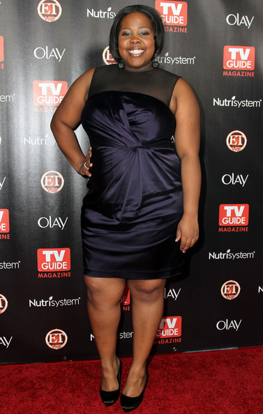 Amber Riley Cocktail Dress [tv guide magazine,little black dress,flooring,shoulder,joint,dress,carpet,fashion,cocktail dress,thigh,muscle,party - arrivals,amber riley,2010 hot list,california,hollywood,party]