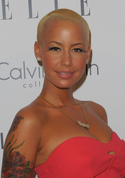 Amber Rose Buzzcut [amber rose,16th annual women in hollywood tribute - arrivals,elle women in hollywood tribute,hair,hairstyle,shoulder,eyebrow,beauty,lip,joint,croydon facelift,eyelash,buzz cut,beverly hills,california,four seasons hotel]